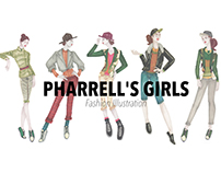 Pharrell's Girls - Fashion Illustration
