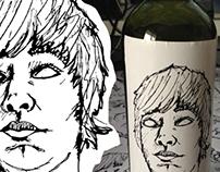 homemade wine - stickers