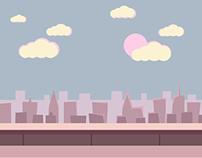 Vanilla Sky Flat Landscape - Illustrator