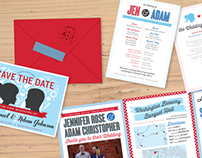 Jen & Adam Johnson: Wedding Invitation