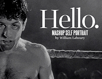 Hello • Self-portrait in film mashup