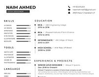 UI/UX Designer Resume