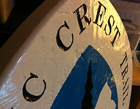Pacific Crest Trail carved sign