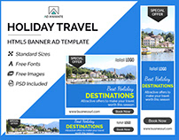 Holiday Travel Banner - HTML5 Ad Templates