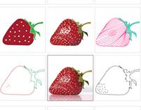 Stylized Strawberries