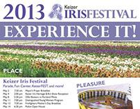 2013 Keizer Iris Festival Poster & Map