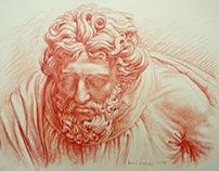 Sanguine drawing 20x27 cm