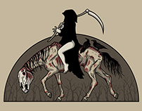 On A Pale Horse / Vector Illustration