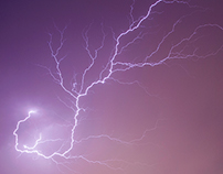 Thunderstorm in Baku