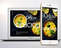 Opium Restaurant Website Design & Development
