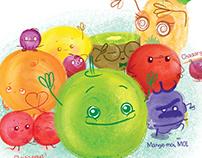 C'est qui le meilleur ? - Cute fruit illustrations book