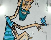 O timoneiro em Le Borjes