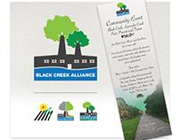 The Black Creek Alliance: Logo & Print Design