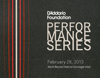 Writing, Branding, PR • D'Addario Performance Series