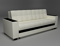 Sofa. 3d modelling. Furniture. Low Poly