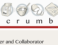 Breadcrumbed Food Blog Logo and Business Card Project