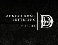 Monochrome Lettering: Vol. II