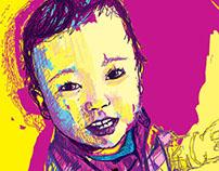 Contemporary Portraits - Digital Drawings #17,18,19