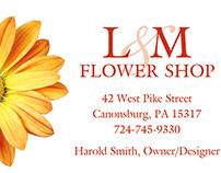 L&M Flower Shop Identity