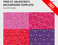 FREE ST. VALENTINE'S BACKGROUND TEMPLATE