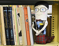«Bookworm» collectible toy in a single copy.