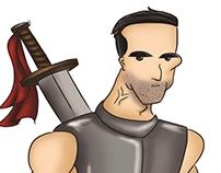 Warrior, Práctica de ilustración digital #1
