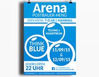 Grafikdesign / Plakatgestaltung Arena Postbauer-Heng