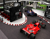 F1 and indoor golf concept