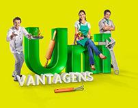 Campanha Uni Vantagens - Unimed - Photo, Retouching, 3D