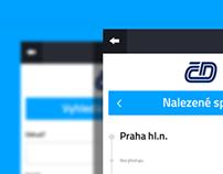Czech Railways app facelift