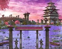 Asian Pink SeaScape