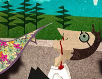 """Ilustração """"Quanto vale um lenço às florzinhas"""""""