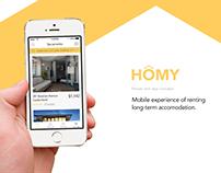 HOMY – House Rent App Concept