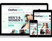 Clothes Store : Free Responsive Magento Fashion Theme