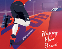 Flying Eagle New Year Poster