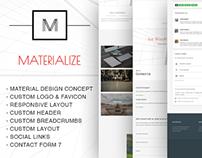Materialize - creative and freemium WordPress Theme