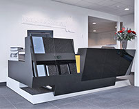 Reception desk Versluys, Bodegraven, the Netherlands