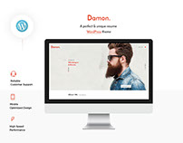 Damon - Resume, Personal, CV, vCard WordPress Theme
