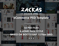 Zackas - eCommerce PSD Template
