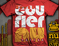 Block Letter tee design for Courier_Nu Cothing