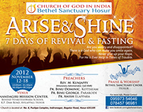 Flyer for Bethel Sanctuary Hosur