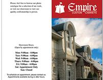 Empire Custom Cabinets: Mock Brochure