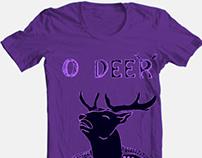T-shirt design (o deer)