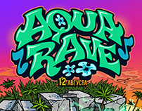 Graphics & design for AQUARAVE party