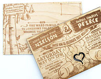Laser Engraved Wooden Wedding Invitation