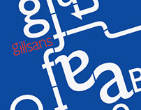 Gill Sans Typographic Poster