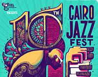 10th Cairo Jazz Festival: poster design