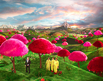 Starburst Orchard Matte Painting