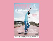 """""""MANGROOVE #7 - Nuit du longboard"""" poster"""