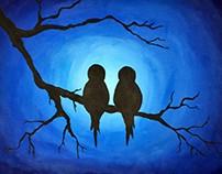 Three Tree paintings
